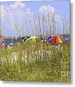 July 4th On The Beach Metal Print by William Bosley