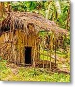 Jungle Hut In A Tropical Rainforest Metal Print by Colin Utz