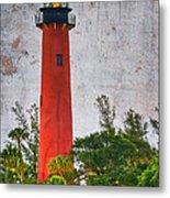 Jupiter Lighthouse Metal Print by Debra and Dave Vanderlaan