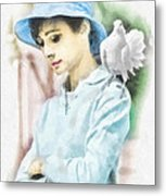Just Audrey Metal Print by Mo T