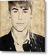 Just Bieber Metal Print by Dancin Artworks