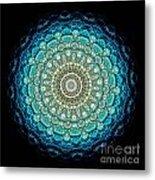 Kaleidoscope Aquamarine Bubbles Metal Print by Amy Cicconi