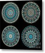 Kaleidoscope Steampunk Series Montage Metal Print by Amy Cicconi