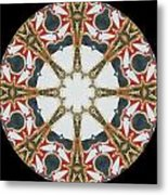 Kaleidoscope Wheel Metal Print by Cathy Lindsey