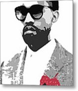 Kanye West Metal Print by Mike Maher