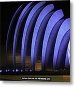 Kauffman Center Of Performing Arts During All-star Week Metal Print by Raye Pond
