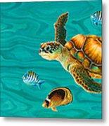 Kauila Sea Turtle Metal Print by Emily Brantley