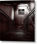 Keep Out Danger Of Drowning Metal Print by Bob Orsillo