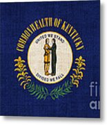 Kentucky State Flag Metal Print by Pixel Chimp