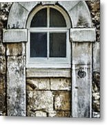 Keystone Window Metal Print by Heather Applegate