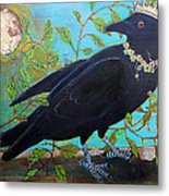 King Crow Metal Print by Blenda Studio