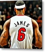 King James Metal Print by Florian Rodarte