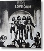 Kiss Drawing Metal Print by Tony Orcutt