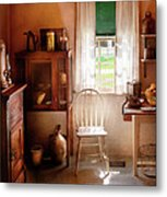 Kitchen - A Cottage Kitchen  Metal Print by Mike Savad