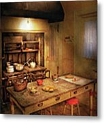 Kitchen - Granny's Stove Metal Print by Mike Savad