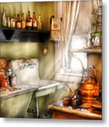 Kitchen - Momma's Kitchen  Metal Print by Mike Savad