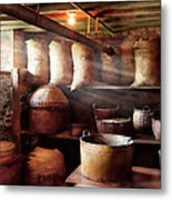 Kitchen - Storage - The Grain Cellar  Metal Print by Mike Savad