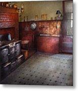 Kitchen - Storybook Cottage Kitchen Metal Print by Mike Savad