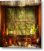 Kitchen - Table Setting Metal Print by Mike Savad
