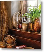 Kitchen - Try To Keep Busy  Metal Print by Mike Savad