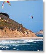 Kite Surfers Metal Print by Bob Wall