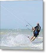 Kitesurfing Metal Print by Mats Silvan