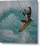 Kiting Los Lances Metal Print by AJM Photography