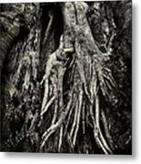 Kneeling At The Feet Of The Green Man Metal Print by Rebecca Sherman
