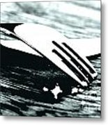 Knife And Fork Metal Print by Blink Images