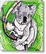 Koala Metal Print by Andrea Keating