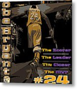 Kobe Bryant Game Over Metal Print by Israel Torres