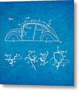Komenda Vw Beetle Body Design Patent Art 1942 Blueprint Metal Print by Ian Monk