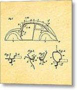 Komenda Vw Beetle Body Design Patent Art 1942 Metal Print by Ian Monk
