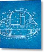 Komenda Vw Beetle Body Design Patent Art 3 1944 Blueprint Metal Print by Ian Monk