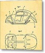 Komenda Vw Beetle Official German Design Patent Art Metal Print by Ian Monk