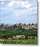 La Cite De Carcassonne Metal Print by France  Art