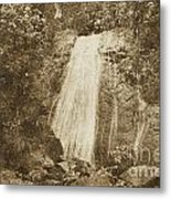 La Coca Falls El Yunque National Rainforest Puerto Rico Print Vintage Metal Print by Shawn O'Brien