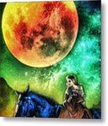 La Luna Metal Print by Mo T