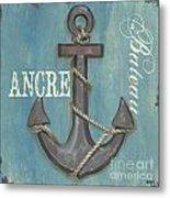 La Mer Ancre Metal Print by Debbie DeWitt