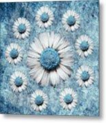 La Ronde Des Marguerites - Blue V02 Metal Print by Variance Collections