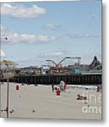Labor Day At The Pier  Metal Print by Laura Wroblewski