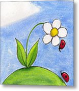 Lady Bug Love Metal Print by Christy Beckwith
