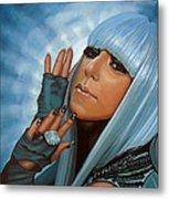 Lady Gaga Metal Print by Paul Meijering