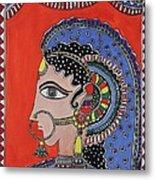 Lady In Ornaments Metal Print by Shakhenabat Kasana