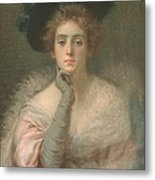 Lady In Pink Metal Print by Joseph W Gies