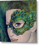 Lady Peacock Metal Print by Dorina  Costras