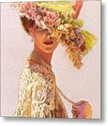 Lady Victoria Victorian Elegance Metal Print by Sue Halstenberg