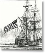 Lady Washington At Friendly Cove Metal Print by James Williamson