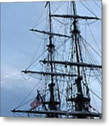 Lady Washington's Masts Metal Print by Heidi Smith