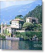 Lake Como Palace Metal Print by Greta Corens